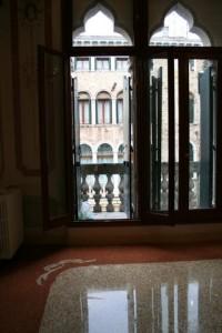 Pavimento in calce con fasce e decori (palazzo veneziano)