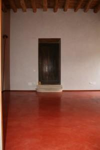 Pavimento in pastellone (villa Piovene Porto Godi, Villaga).